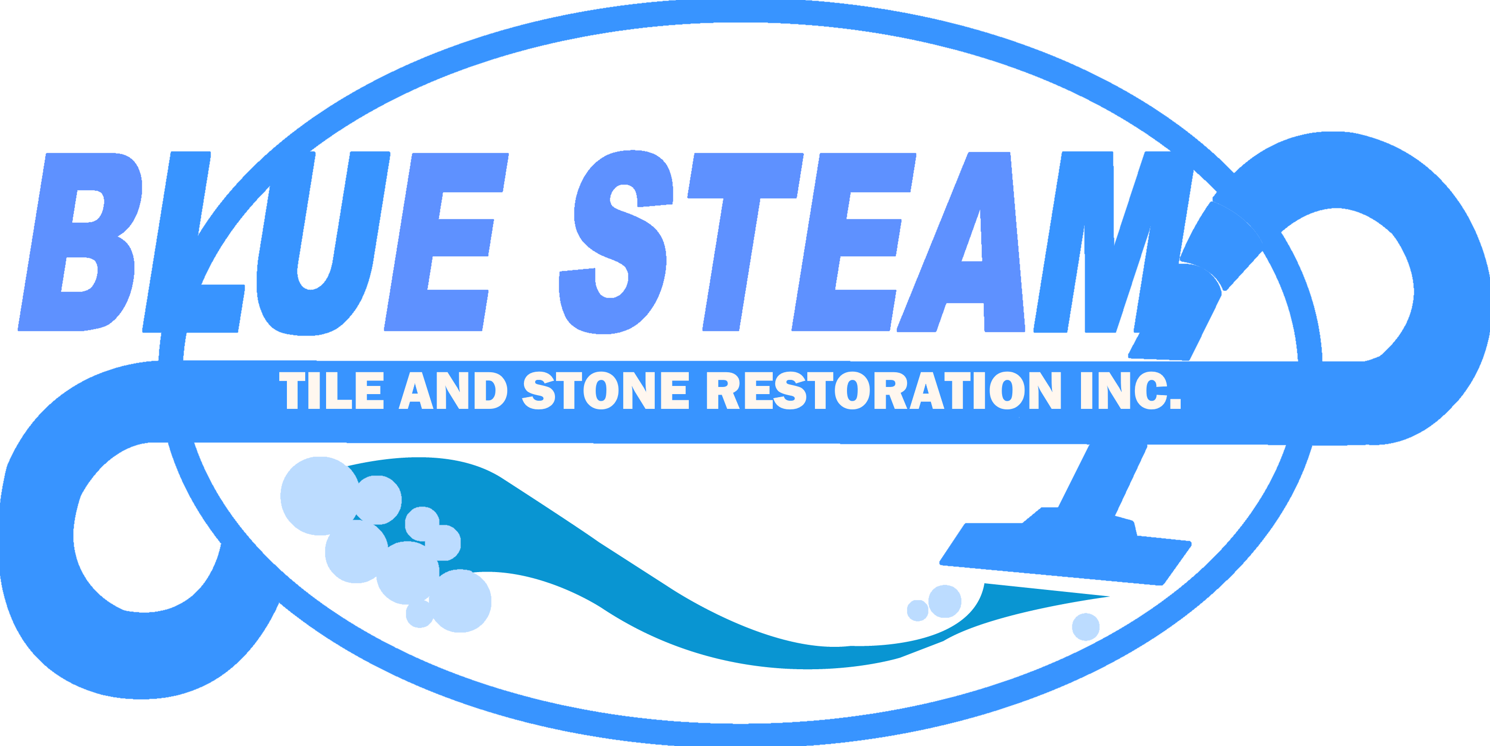 blue steam tile and stone restoration